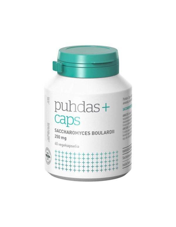 Puhdas+ Saccharomyces Boulardii 250mg 60 vegekaps. - Ehdoton probiootti antibioottikuurien aikana, matkustaessa sekä päivittäiseen käyttöön!