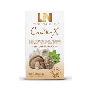 Living Nutrition Candi-X Kefiiri-Kombucha 60 vegekaps Tasapainottaa ruoansulatuskanavan bakteerikantaa ja hillitsee hiivan liikakasvua.
