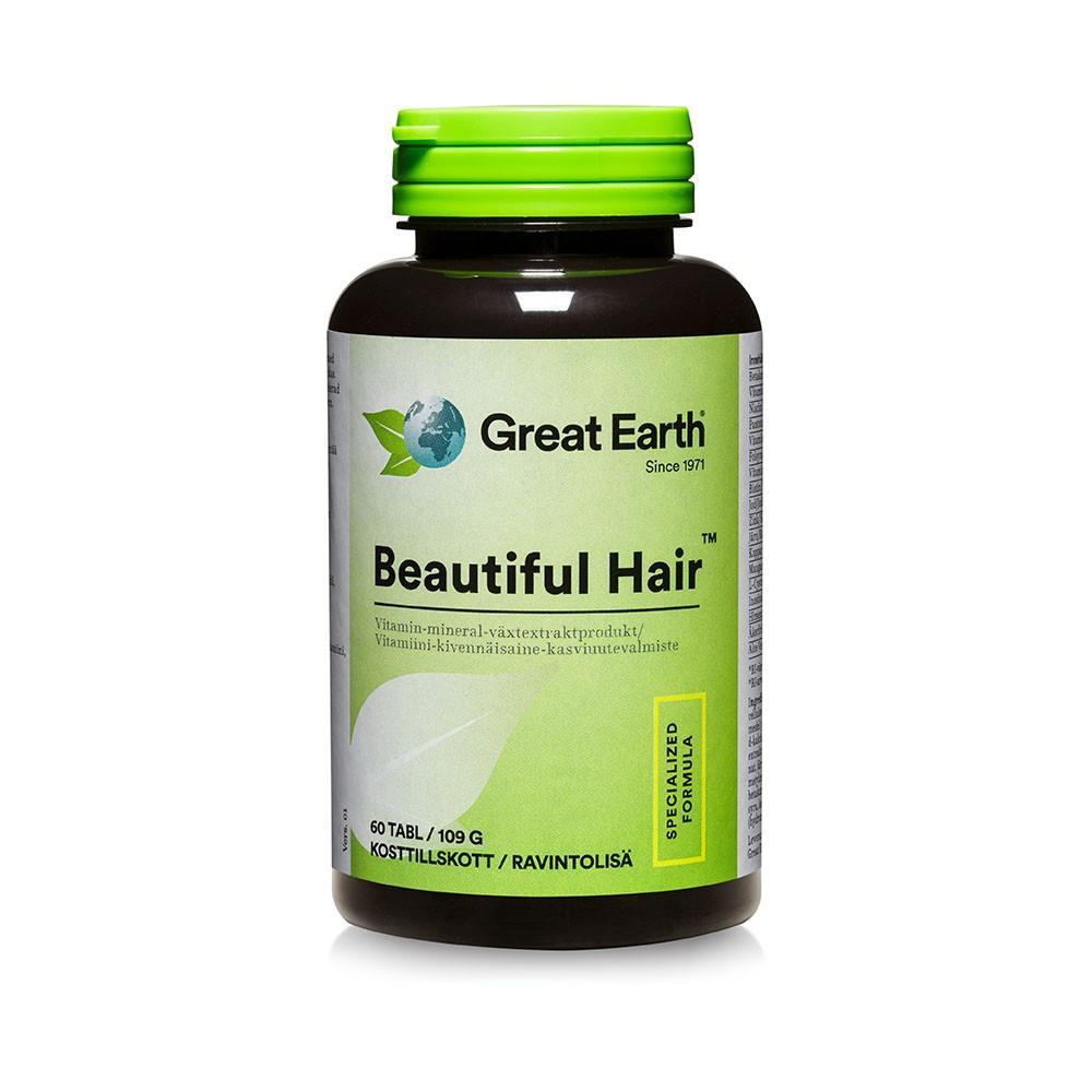 Great Earth Beautiful Hair 60tab - Freetox cb1a878a9a