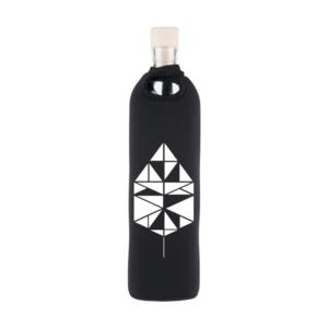 Flaska Neo Design Tangrammi 0.75 l - Veden strukturointiominaisuudella varusteltu lasipullo. Neopreeninen suojakuori suojaa ja pitää veden viileänä.