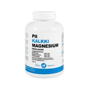 Aboa Medica Pii Kalkki Magnesium -emäsjauhe 120 g Huikean monipuolinen emäsmineraaleja sisältävä kivennäisainevalmiste!