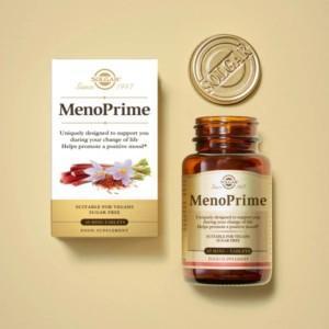 Solgar MenoPrime - Kasviperäinen hormoniton vaihdevuosien tuki naiselle. Ooh! Nyt se on täällä! Täysin kasviperäinen, hormooniton tuki vaihdevuosioireisiin!