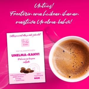 Inner Angel by Freetox Unelmakahvi 200 g Matalahappoinen maukas Unelmakahvi on pehmeä ja lempeä vatsalle. 100% käsityötä, Suomessa paahdettu.