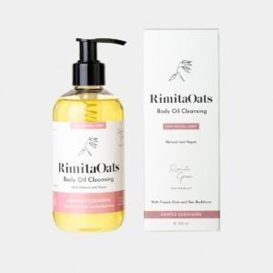 RimitaOats – Body Oil Cleansing – Suihkuöljy 250 ml Lempeästi vaahtoava suihkuöljy puhdistaa ihon luonnollisesti ja kuivattamatta.