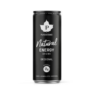 PUHDISTAMO Natural energy drink - Original 330 ml Perinteisen energiajuoman maku ja luonnollinen sisältö. Pärisee, mutta luonnollisesti!!!